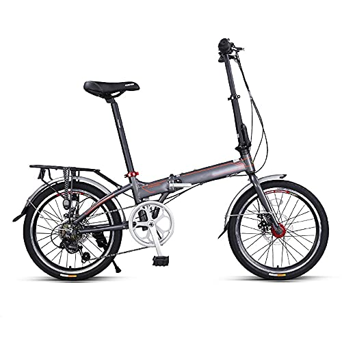 DODOBD Bicicleta Plegable de 20 Pulgadas, Folding Bici Plegable Marco de Acero...
