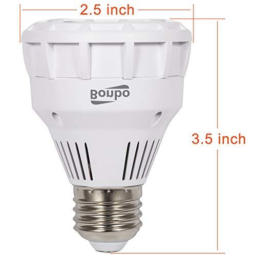 Bonbo 120V 25W LED Pool Light Bulb 6000k Daylight LED Spa Bulb E26 White Hot Tub Replacement for Pentair Hayward Underwater Light Fixture