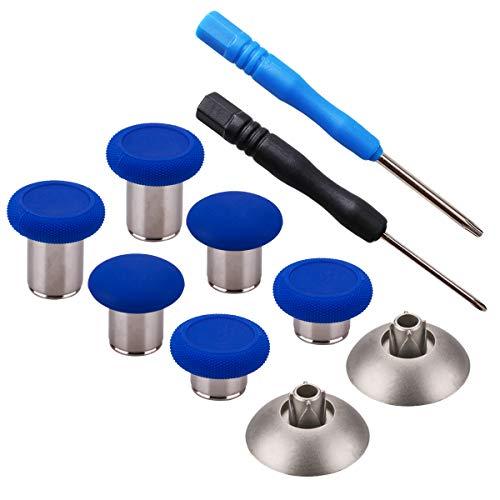 YoRHa 8 in 1 Metall Magnetische Thumbsticks Analog Sticks Joysticks Ersatz Reparatur Kits (blau) für PS4/Slim/Pro & Xbox One/S/Elite & Switch Pro Controller mit Schraubendreher