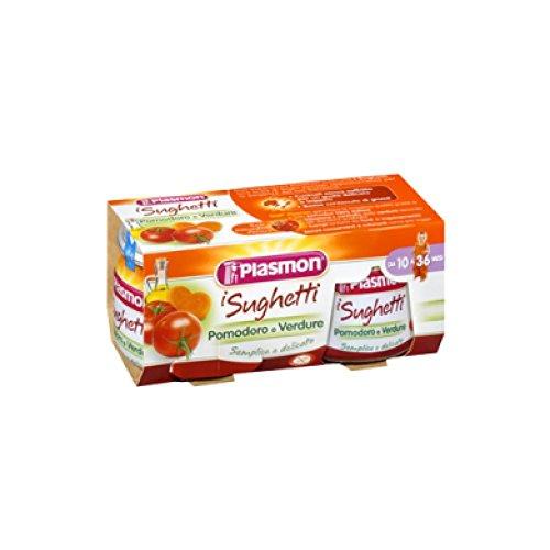 plasmon Tomaten und gemüse sauce 2x 80 gr. (sugo pomodoro e verdure)