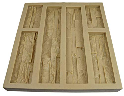 Panel Veneer Stone Rubber Mold for Concrete or Plaster, Western Quick Fit Flats, 21.5x20, Version 4, Recycled Material