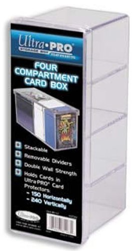 Ultra Pro 81163 - Card Box 4-Compartment Clear