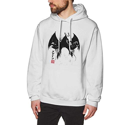 Ljkhas2329 Cute Eevee Mens Pullover Hoodies Crewneck Long Sleeve Sweatshirt Black M