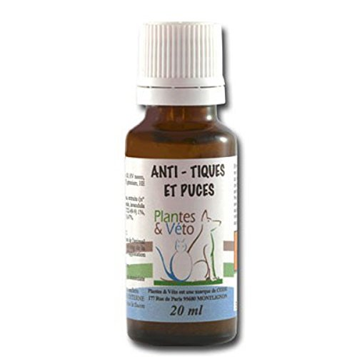 Plantes & Véto Anti-Tiques et Puces Compte Gouttes de 20 ml