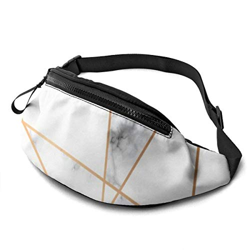 XCNGG Bolso de cintura corriente bolso de cintura de ocio bolso de cintura bolso de cintura de moda Marble Geometry Belt Bag 13.7 X 5.5 inch Unisex Running Waist Packs Fashion Casual Waist Bag, Can Ho