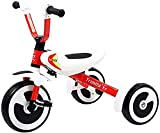 NUBAO Triciclo plegable para niños de 3 a 6 años de edad, triciclos de equilibrio para bicicleta, carrito ligero para niño y niña (color: rojo) triciclos para niños de 1 a 3 años (color: rojo)