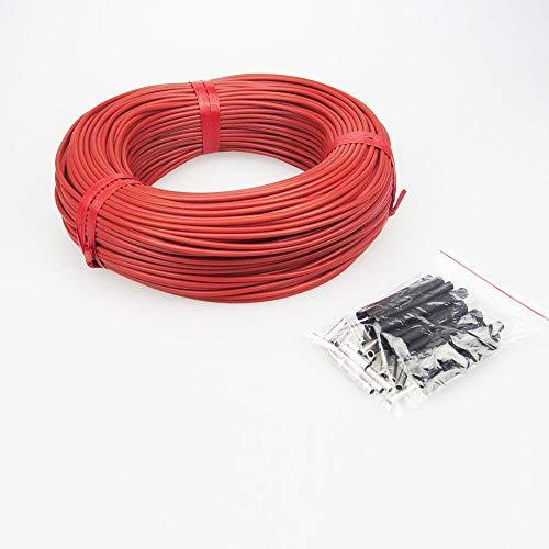 LINGZIA 10 a 100 metros 12K Cable calefactor caliente para piso 33ohm / m Cables calefactores de fibra de carbono 5m