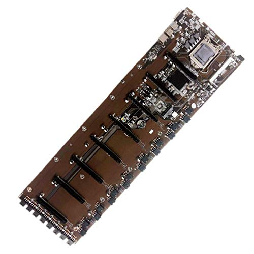 Frotox chipset Integrado B75 BTC HM77, Placas Base VGA compatibles con HDMI 8-GPU Bitcoin para Placa Base de Escritorio BTC T37 Miner
