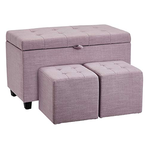 FIRST HILL WFO124PK ottomans, Lavender