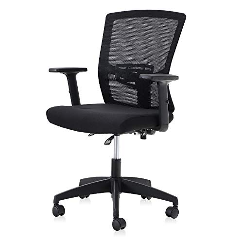 Sophia & William Ergonomic Mesh Office Desk Chair High Back, Modern 360° Swivel Executive Computer Chair with Height Adjustable Armrests, Lumbar Support, Black - 1 Pack, Load Capacity: 300 lbs