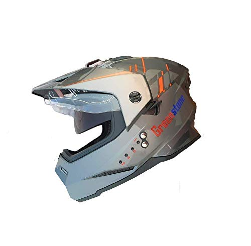 Green Stone G6 Moto Smart Dual Bluetooth Helmet with Voice Assistance Large 600MM (Large)