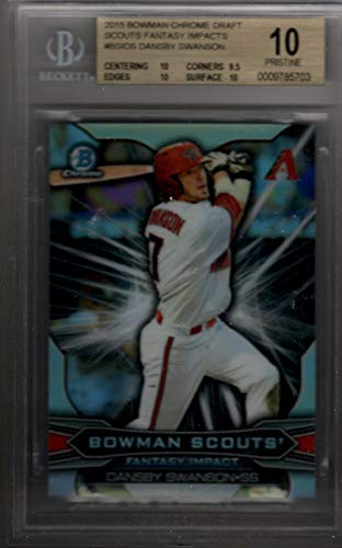 DANSBY SWANSON 2015 Bowman Chrome Draft Scouts Fantasy Rookie RC BGS 10 Pristine
