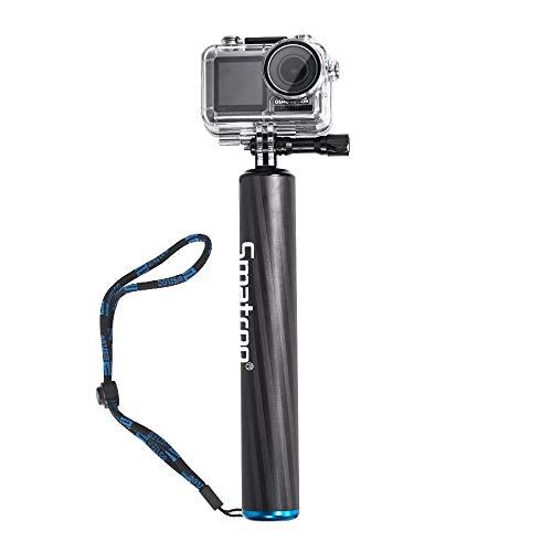 Smatree - Impugnatura Galleggiante Impermeabile in Fibra di Carbonio per GoPro Hero 2018, GoPro Hero Fusion, GoPro Hero 8/7/6/5/4/3/2/1 e Osmo Action