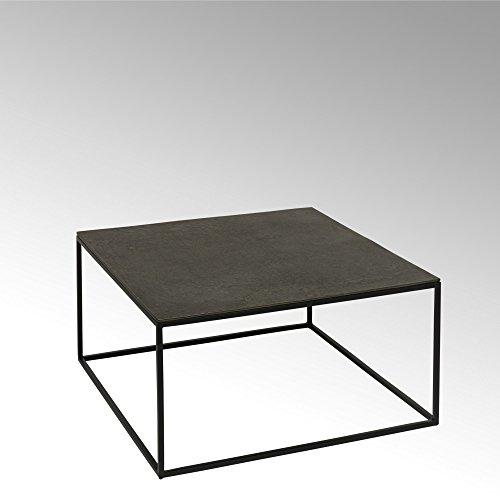 Lambert Dado Couchtisch Alu Finish 70 x 70 x 35 cm, Metall, Graphit, schwarz, One Size