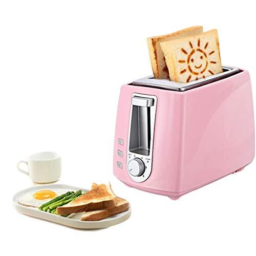 SHUILV Acero Inoxidable Tostadora eléctrica Hogar automático para Hornear para Hornear Máquina de Desayuno Máquina de Desayuno Tostado Sandwich Grill Horno 2 Rebanada para Cocina, Cocina Cocina casa