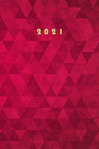 2021: buchkalender 2021 a5 1 tag 1 seite I rot I Tageskalender 365 Tage ,12 monate von Januar bis Dezember 2021 und To Do Liste I Tagebuch 2021 I382 seiten