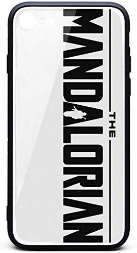 Funda protectora para iPhone 6/iPhone 6s The-Mandalorian-Black-Logo- Unisex de moda de vidrio templado negro anti-arañazos TPU goma Bumper Skin Back Cover