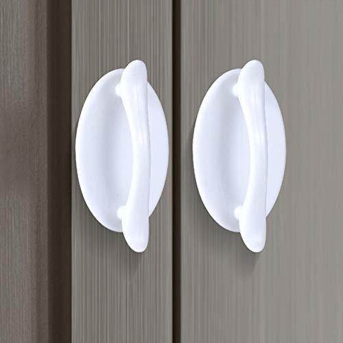 Gneric TüRklinke 4pcs Moderne minimalistischer Griff Tür und Fenster Adhesive Zusatzgriff Küchenschrank Türgriffe Schubladenknöpfe Hauptdekoration Turschnalle Aussentur (Color : 4pc White)