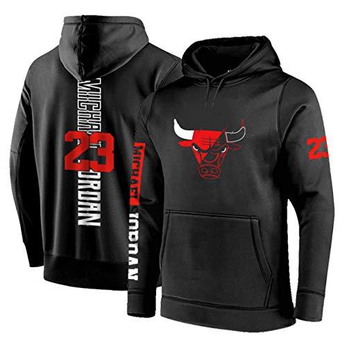 Jordan #23 Bulls - Conjunto de chándal para hombre, sudaderas con capucha, ropa deportiva, ropa de baloncesto con capucha, ropa deportiva para hombre, 2 piezas, color negro y M