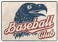 フロアマット 大判,野球クラブのバッジ ベクトルイラスト シャツやロゴ、印刷、スタンプのコンセプト フローリング/畳/床暖房対応(213×152cm 厚1.5mm)