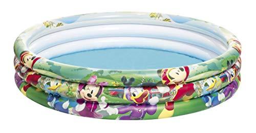 Bestway 91007 Disney Mickey Roadster Racers Piscine 3 boudins 122 x 25 cm
