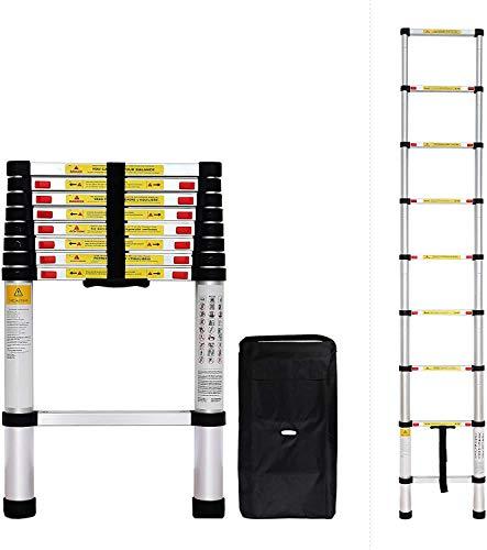 Todeco - Echelle Telescopique, Échelle Pliable - Charge maximale: 150 kg - Standards/Certifications: EN131 - 2,6 mètre(s), Sac de transport OFFERT, EN 131