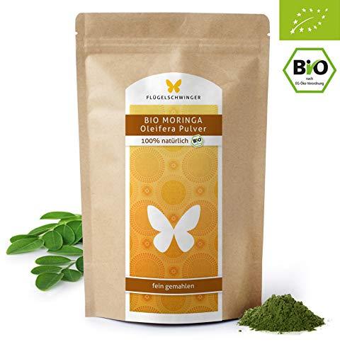 500g Bio-Moringa-Pulver DE-ÖKO-012 aus jungen Blättern, ohne Zusätze, Rohkostqualität, schonende Verarbeitung bei niedrigen Temperaturen (500g)