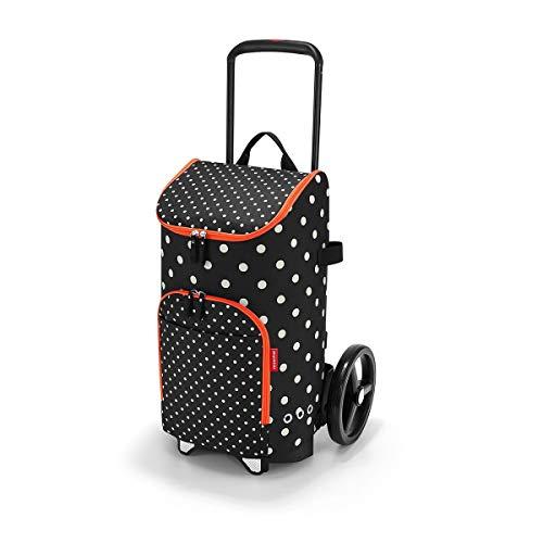 reisenthel citycruiser Rack + citycruiser Bag Set, moderner, robuster Einkaufstrolley aus Aluminium, leichtlaufende Rollen - große Einkaufstasche, 34x60x24 cm, 45 l, Mixed dots (7051)