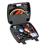 car ac tools - Lichamp HVAC Gauges with Hoses, AC Manifold Gauge Set R410a R134a R12 R22 Refrigerant Gauges