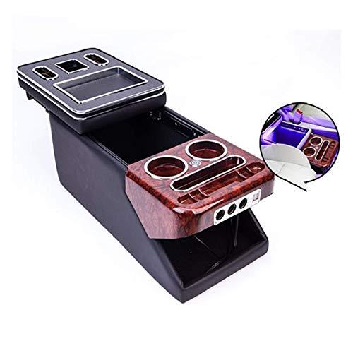LBLDD Con Puerto De Carga USB USB Reposabrazos De Negocios Tienda Central Juego De Cajas De Fila De Autos De Negocios para V/W Caravelle/Mult T5 T6 (Color: Negro)