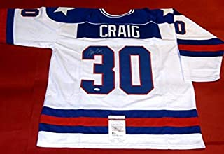 Jim Craig Autographed Signed Miracle On Ice 1980 USA Hockey Jersey Olympics JSA