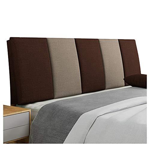 WENZHE Cabecera Cabecero De La Cama Tapizado Sofá Cama Lino Respaldo Lavable Estuche Blando Casa Habitación Almohadilla para La Cintura, 5 Colores (Color : E, Tamaño : 180x55cm)