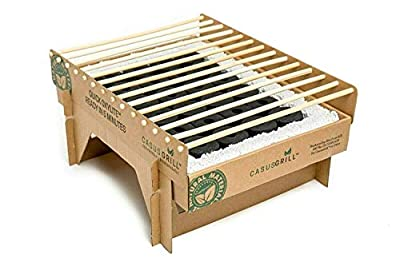 CASUSGRILL Instant One Hour Eco Friendly Biodegradable and Disposable Grill for On The Go