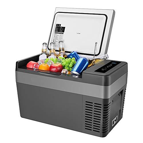 ISSYZONE Nevera portátil con compresor de 25 l, nevera portátil eléctrica de -22 a 10 °C, 12 V y 230 V, para coche, camión y uso doméstico