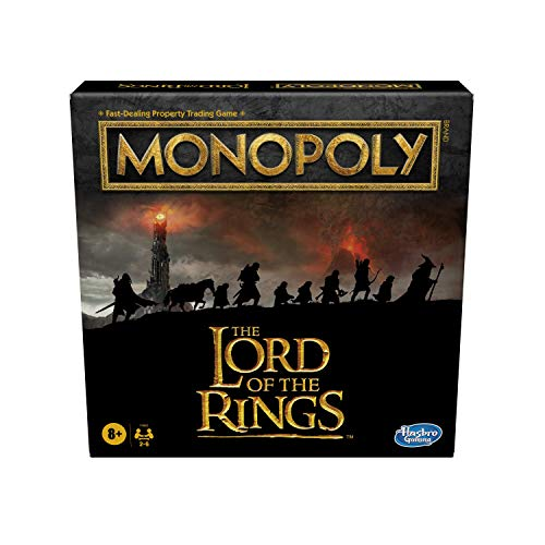 Monopoly: The Lord of the Rings Edition Board Game Inspired by the Movie Trilogy, Play as a Member of the Fellowship, For Kids Ages 8 and Up