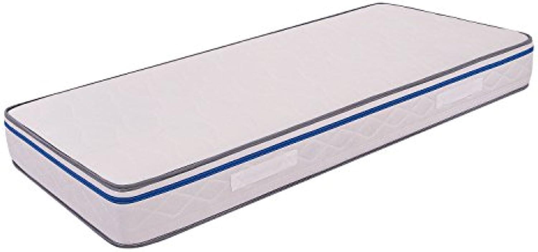 MiaSuite Matratze aus Memory Foam hoch 22cm Easy Orthopdisch, milbendicht 85 x 190 cm Bianco