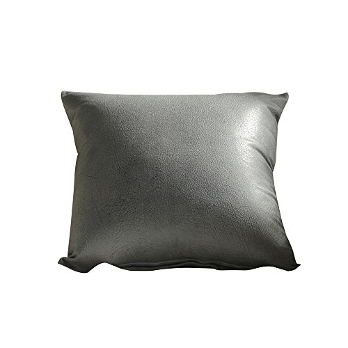Dosoop Faux Leather Throw Pillow Covers,Modern Solid Decorative Bedroom Living Room Square Cushion Cases for Couch Bed Imitation Leather Sofa Waist Throw Cushion Cover Home Decor 18 x 18 inch