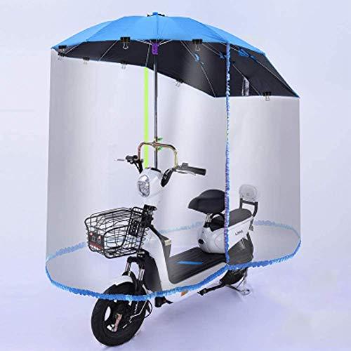 ZYQDRZ Cubierta De Lluvia para Scooter, Visera Solar, Toldo para Motocicleta Totalmente Cerrado. para Protección contra El Viento, La Lluvia Y El Sol,Azul
