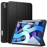 ZtotopHülle Hülle für iPad Air 4 10.9 2020, Robuste Stoßfeste Magnetisch Schutzhülle, mit Mehrfachwinkel, Stifthalter, für iPad Air 4 10,9 Zoll 2020, Schwarz