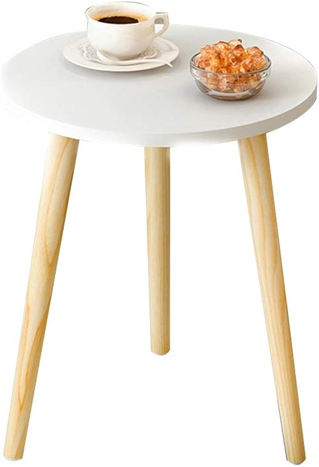 Coffee Table Side Table, Mini Small Apartment Coffee Table Spacious Desktop Solid Wood Sofa Corner Table (Size   14  14  16.8 in)