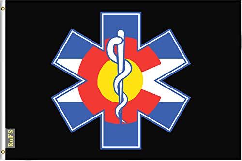RuFS Colorado Flag Colorado Nurse Gartenhaus einseitig Polyester Zeichen Outdoor Banner Außenwand Innenhof Banner Dekor