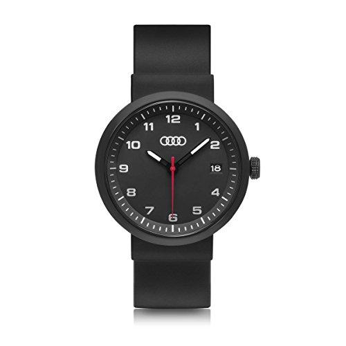 Audi 3101800100 Armbanduhr Uhr Ringe, schwarz