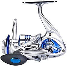 DIWA Spinning Fishing Reels for Saltwater Freshwater Ice Fishing Reels Ultra Smooth Ultralight Powerful Trout Carp Spinner Gear 13+1 Stainless Ball Bearings Aluminum Alloy Body Spools