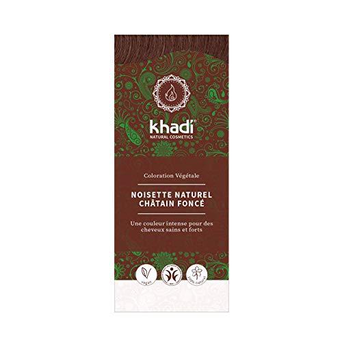 Khadi Teinture aux Plantes Noisette Naturel Châtain foncé 100g
