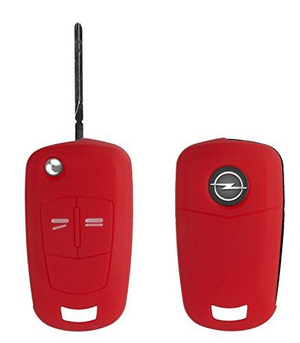 Yayago Coque de protection pour Opel 2-Bouton clef de voiture Keyless Go Key Case silicone rouge