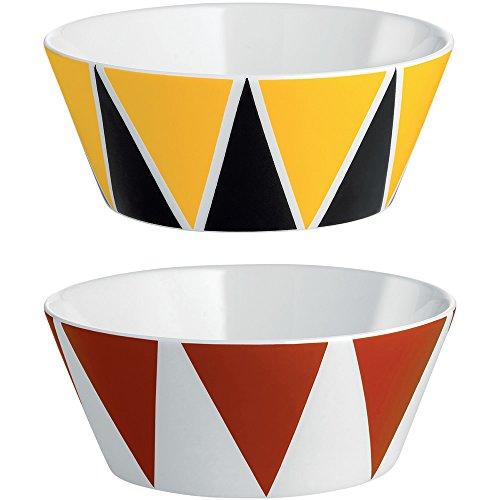 Alessi MW61S2 1 cirque, ensemble de deux bols en porcelaine tendre, multicolore, 2 unités