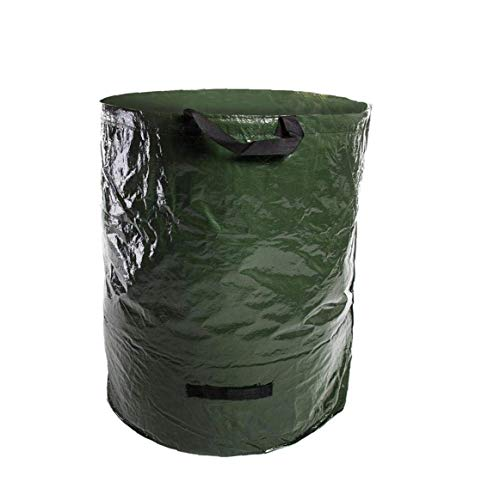 Nider - Juego de 3 bolsas de basura de jardín para residuos de jardín, hojas, desechos verdes, residuos vegetales, compost - Tela de polipropileno resistente (272 L)
