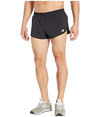 New Balance Accelerate 3in Split Pantaloncini, Nero, M Uomo