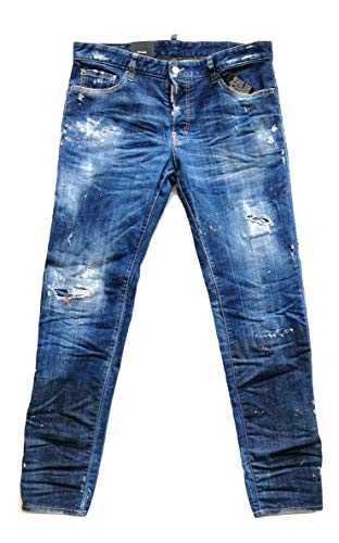 Dsquared 2 DSquared2 Distressed Stonewash Jeans Gr. 36 W / 32 L, blau