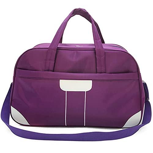 MGYJ Bolsa de Viaje Bolsa de Deporte Viajes Duffel Packable Nylon Bag Duffle Impermeable Pernocte para Las Mujeres Bolsa plegada Ideal para jóvenes y Adultos (Color : Zi-da, Size : One Size)